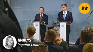 Petteri Orpo och Juha Sipilä