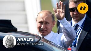 Vladimir Putin anländer till Helsingfors 16.07.2018