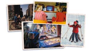 Kuvassa valokuvia eri vuosikymmeniltä