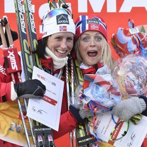 Marit Björgen och Therese Johaug har haft många tuffa dueller genom åren.