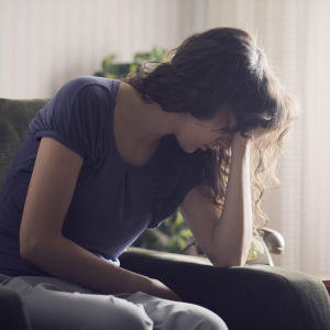 Deprimerad tonåring.