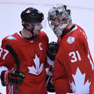 Sidney Crosby och Carey Price