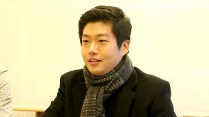 Korealainen säveltäjä Hyun-Jun Park, yksi Sibelius-sävellyskilpailun voittajista haastattelussa.