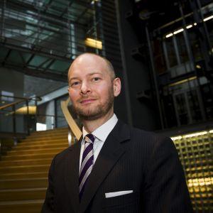 Sannfinländarnas gruppordförande i riksdagen Sampo Terho.