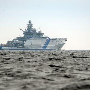 Gränskbevakningsfartyget Turva utanför Helsingfors