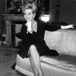 Skådespelaren Zsa Zsa Gabor 1965.