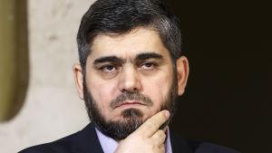 Den syriska oppositionen är djupt splittrad och rebelledaren Mohammed Alloush är den enda av oppositionsgruppen HNC:s  ledare som deltar i mötet i Astana