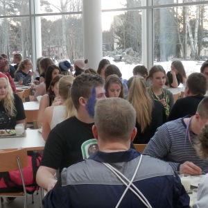 Gymnasiets matsal i Jakobstad