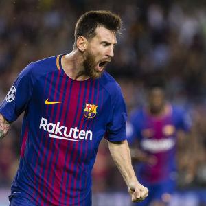 Lionel Messi vrålar.