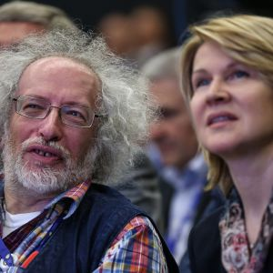 Alexej Venediktov, chefredaktör för Moskvas eko (till vänster) säger att gärningsmannen visste vad han gjorde
