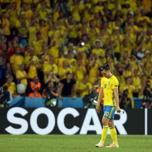 Zlatan Ibrahimovic slutade i landslaget 2016.