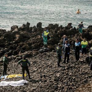 Migranter hittades döda på Costa Teguise, Lanzarote
