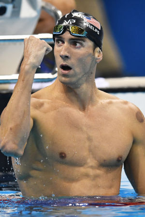 Michael Phelps var urstark på 200 meter fjärilsim.