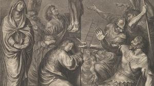 osa riistiinnaulitsemista kuvaavasta taulusta