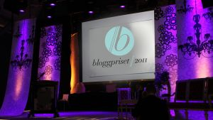 bloggpriset 2011, scenen