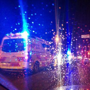 Trafikolycka i regn.