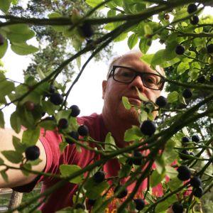 Selfie i blåbärskogen