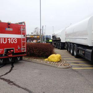 Olycksövning vid Shell i Kungsporten i Borgå 12.10.16