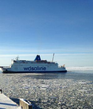 Wasaline i hamnen i Vasa