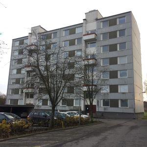 Höghus på Hipposvägen 31 i Åbo som ska rivas.