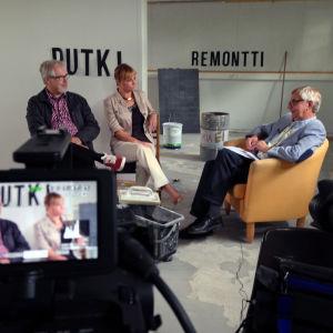 Putkiremontti-sarjan asiantuntijat Heimo Levamo, Kaisa Pekkala, Juha Salmi