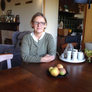 statistikintervjuare Susanne Thorn i sitt hem i Pargas