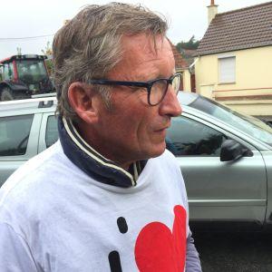 Jean Francois Gratien deltar i demonstrationen i Calais 5.9.2016.