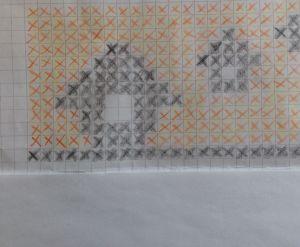 Stickmönster med lador