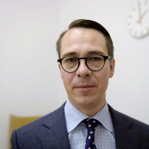 SFP:s ordförande Carl Haglund.