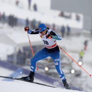Martti Jylhä i sprintkvalet i Lahtis 2016.