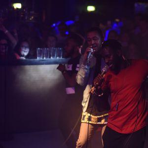 Panetoz uppträder på Börs nightclub i Åbo, Glöggrundan 2017