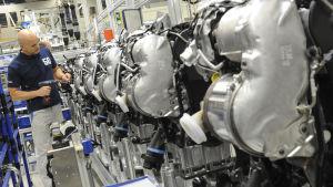 Arbetare på Volkswagen-fabrik 2012.