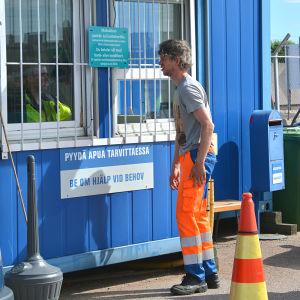 Kassan vid Domargårds avfallsstation