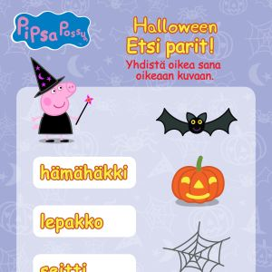 Pipsa Possu Halloween puuha - etsi parit