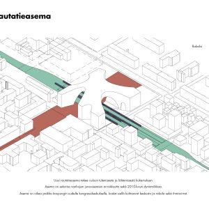 Havainnekuva suunnitellusta Oulun ratapihasta