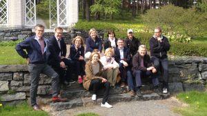 Ylen johtoryhmän jäsenet kesällä 2015