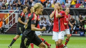 Tyskland vann över Norge i EM-finalen 2013.