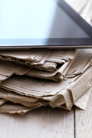 Sanomalehti ja iPad