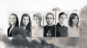 Porträtt av de olika redaktörerna