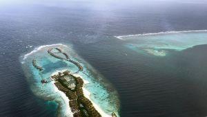 En av de paradisöar som hör till Maldiverna.