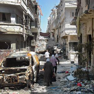 Den sönderbombade syriska staden Homs