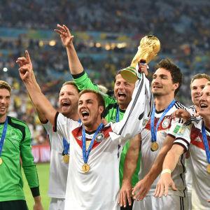Tyskland vann VM-guld 2014.