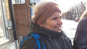Paulina Hannus tar en liten paus