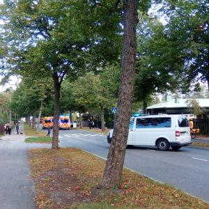 Dödsolycka på Havsvindsvägen i Vårberga