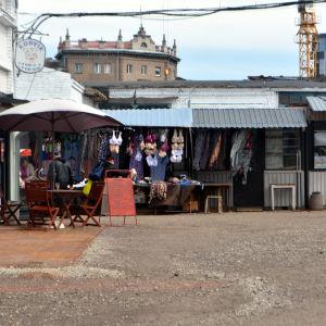 Loppmarknad i Tallinn.
