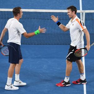Henri Kontinen och John Peers till semifinal i Australien.