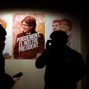 Valaffisch för Carles Puigdemont