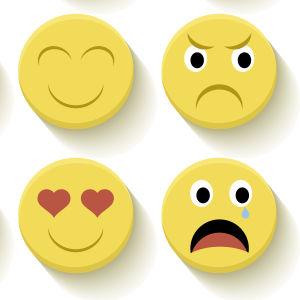 En samling emojis