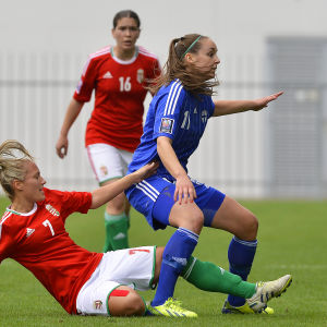 Nora Heroum i elden mot Ungern 2014.