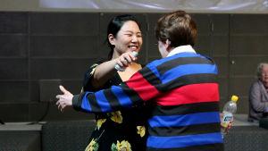 Korealaispianisti Yedam Kim välieräsoittonsa jälkeen.